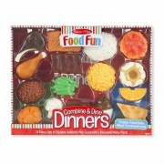 Melissa & Doug 9 Piece Food Fun Combine and Dine Dinners Set 8267