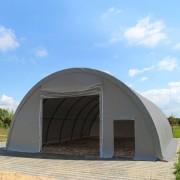 Intent24 Tunnel de stockage (châssis 1m) 9,15m x 20m, hauteur 4,5m, PVC 720 g/m² gris