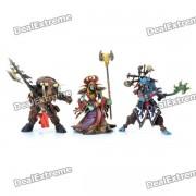 3-en-1 World of Warcraft Juego Resina WOW Pantalla figura de accion - Tauren + + Medico brujo Warlock