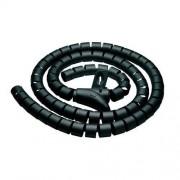PureMounts PM-ZCCS-SLEEVE-25B Funda espiral de polietileno para cables, muy flexible, diámetro 25mm, longitud 2.50m, color negro