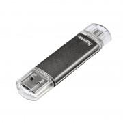 Stick Laeta Twin Hama, 64 GB, USB 2.0, Gri
