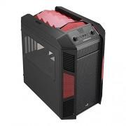 Aerocool XPredator Cube Case per PC, Nero/Rosso