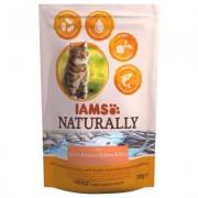 IAMS Naturally Cat Adult Salmon - Výhodné balení: 2 x 2,7 kg