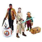 Star Wars: The Force Awakens Takodana Encounter 3.75 Inch Action Figure Set [Maz Kanata Finn Rey and BB-8]