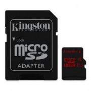 Карта Памет Kingston microSDXC 32GB, U3 с адаптер SD KIN-SDCA3/32GB