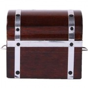 Magideal 1/12 Scale Dolls House Miniature Treasure Chest Box W/ Handle Home Accessory