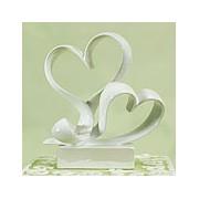 """Love Link"" Stylized Heart Cake Topper"