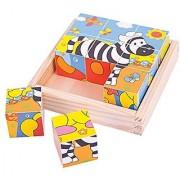 Bigjigs Toys BJ512 Safari Cube Puzzle