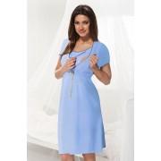 Мека нощничка за кърмене Dorota синя