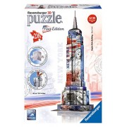 Ravensburger Italy 12583 - Set Ravensburger 12583 Empire State Building Flag Edition, Colori Assortiti, 216 Pezzi