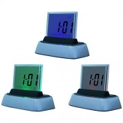 BJE Color Changing Led Display Digital Clock With Sound, Alarm, Calendar, Temperature, Digital Clock, Temperature Humidity Time Display Meter with Alarm Clock, Wall Mount or Table Top, Timer, Timers Alarms, Clock, Alarmclock, Clocks, Alarmclocks, uhr , Wa