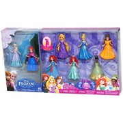 Mattel 8-Pc Doll Gift Set: 3.75 Inch Disney Princess, Featuring Anna And Elsa From Frozen