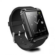 Bluetooth reloj inteligente con tarjeta SIM ranura para tarjeta TF de hacer llamadas de teléfono 2.0 MP Apoyo mensaje notificación podómetro Monitor de sueño compatible con Android y iOS sistema, upgrade black, PD-1