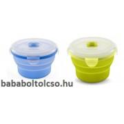Nuvita összecsukható szilikon tál - 230 ml - zöld