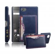 Sony Xperia Z5 Compact (4.6 inch) Funda Protector Rᄄᆰgida con Soporte Ranura (Dark Blue)