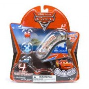 Squinkies Disney Cars 2 Series 2 Bubble Pack Includes 4 Squinkies Ramp by Blip Toys (English Manual)