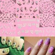 Nail Art Versiering met Vlinders en Kant