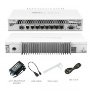 MikroTik CCR1009-7G-1C-PC Cloud Core Router 7 x GbE RJ45 + SFP slot + USB, CPU 9 cores x 1GHz, 1GB RAM, touchscreen LCD, VPN-BGP-MPLS-3G ruter/ firewall/ bandwith manager, pasivno