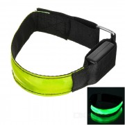 CTSmart Outdoor Cycling Reflective Green Light 3-Mode LED Safety Warning Strap Arm Band - Green