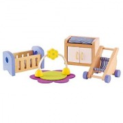 Hape - Babys Room Wooden Doll House Furniture