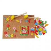 Mozaik kreatív fa kirakó kalapálós játék