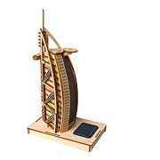 3 D Novelty Wooden Burj Al Arab Hotel Jigsaw Puzzle With Led Light Powered By Solar For Children Adult