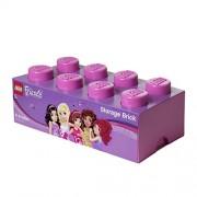 Room Copenhagen 40041744 - Scatola per riporre i giocattoli a forma di mattoncino di Lego, colore: R