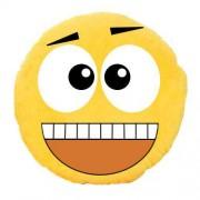 Soft Smiley Emoticon Yellow Round Cushion Pillow Stuffed Plush Toy Doll (WOW)