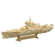 Puzzle eco 3D din lemn Nava de Lupta Pebaro