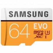 Samsung Tarjeta de memoria / TF Samsung Micro SDXC - Negro + Naranja (64GB / Class 10)