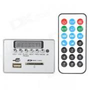 """Navo 1.5"""" LCD 12V MP3 Decoder Board w/ Remote Controller - Silver"""