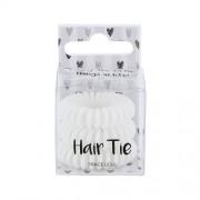 2K Hair Tie Haargummis für Frauen Haarringe Farbton - White