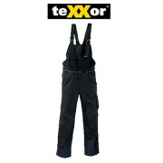 teXXor Canvas 320 2-in-1 Work Trousers with Cordura Reinforced, black, 20-008338-102