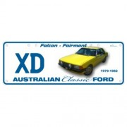 """Novelty Number Plate - Ford XD Falcon Fairmont - Sm"""
