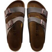 Birkenstock Arizona Birkoflor Nubuk Regulr Sandals In Stone Grey