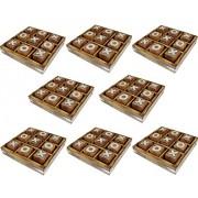 Conjunto de 8 - Tic Tac Toe juego de juguete de madera y juego - tres en raya juego - tablero de juego del recorrido del sistema -12.7 x 12,7 x 2,5 cm