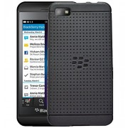 Hello Zone Exclusive Dotted Design Soft Back Case Cover Back Cover For BlackBerry Z10 - Black