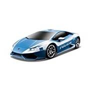 Maisto 1:24 Scale Lamborghini Huracan Lp 610-4 Polizia with Pistol Grip Controller Radio Controlled Model Car (Blue)