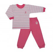 Bluzite si pantaloni de trening pentru fete, roz cu dungi