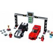 Set Constructie Lego Speed Champions Cursa De Dragstere Chevrolet Camaro