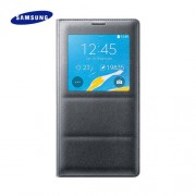 Official Samsung Galaxy Note 4 S View Cover Case - Charcoal Black