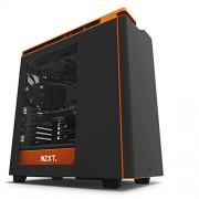 NZXT ca-h442 W M1 Mid Tower Chassis PC per portacomputer nero nero/arancione