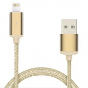 Cablu Magnetic Lightning iOS (Rose gold, 1m)