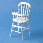Dollhouse Miniature White Victorian High Chair