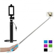 DAD Selfie Stick With AUX Cable Compatible For XOLO Q1000 Opus