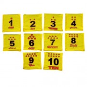 GSI Pack of 10 Numbers Toss Bean Bags for Activity Games in Cotton drill material