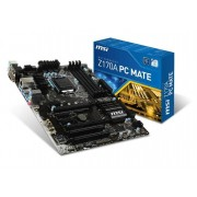 Micro-Star International Msi Z170A Pc Mate Socket Lga 1151 Vga Dvi Hdmi 7.1 Hd Audio Atx Mother