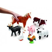 Learning Resources Jumbo Farm Animals Customer Package Type: Standard Packaging Model: Ler0694, Toys & Games For Kids & Child