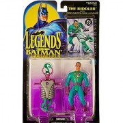1995 - Kenner / DC Comics - Legends of Batman - The Riddler Action Figure - w/ Firing Question Mark Launcher - Elseworld - DC Official Collector Card - Collector Perfect - Out of Production - New - Mint - Limited Edition - Collectible