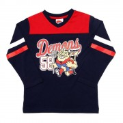 AFL Toddler Script Long sleeve Tee Melbourne Demons